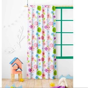 Floral brand new black out curtain 2 panels
